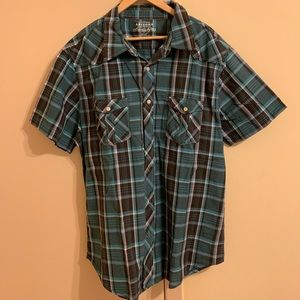 Men's Arizona short sleeved button down shirt